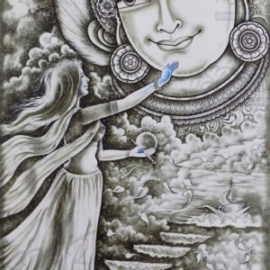 RADHA KRISHNA THE TOUCH OF BLUE