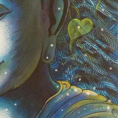 BLUE-BUDDHA-MEDITATE 2