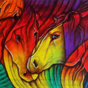 HORSES-AFFECTION-ABSTRACT-PAINTING